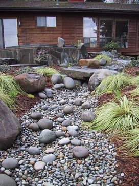 seasonal stream bed eclectic landscape seattle by find this pin and more on garden dry creek - Garden Design Dry River Bed