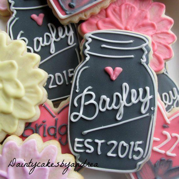 Wedding mason jars | Cookie Connection