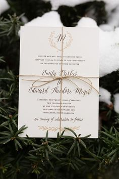 Personalized Gold and Bronze Wedding Invitations