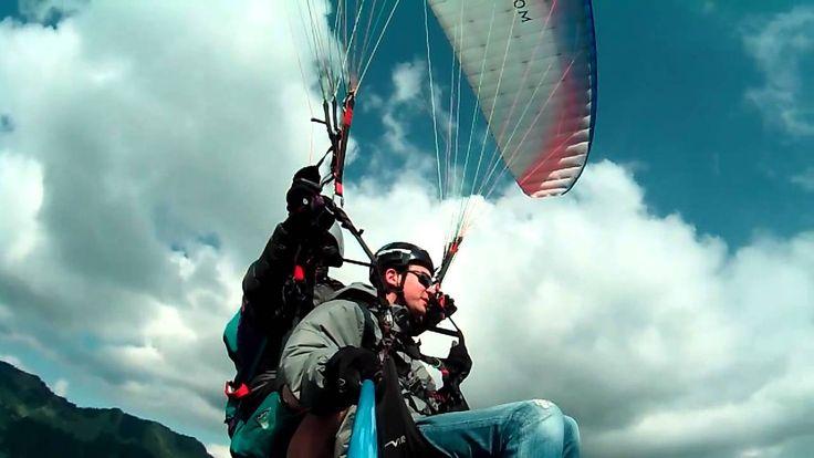 Vol en parapente (vallée d'Abondance) avec caméra DRIFT HD