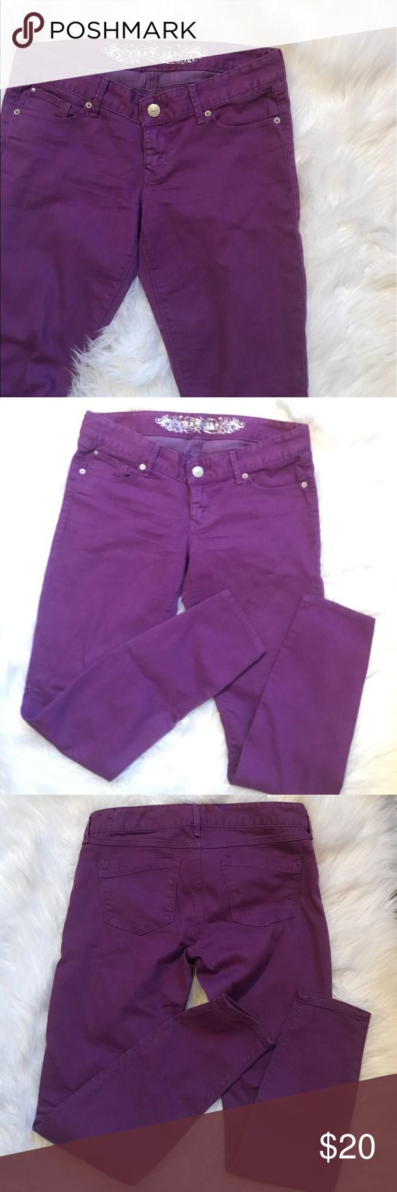 Express Purple Skinny Leg Pants Size 8 Your favorite skinny jeans! Super comfy and super cute! Pretty purple color. Size 8. Great condition Express Pants Skinny