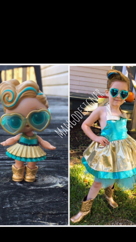 Lol Überraschungspuppenkostüm. Luxe Puppe. Selbstgemachtes Kostüm.   – Holidays