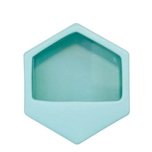 $16.90 homeware-george-and-co-hexagon-planter-small-turquoise