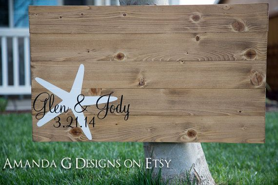 Hey, I found this really awesome Etsy listing at https://www.etsy.com/listing/181169503/starfish-guest-book-alternative-wood