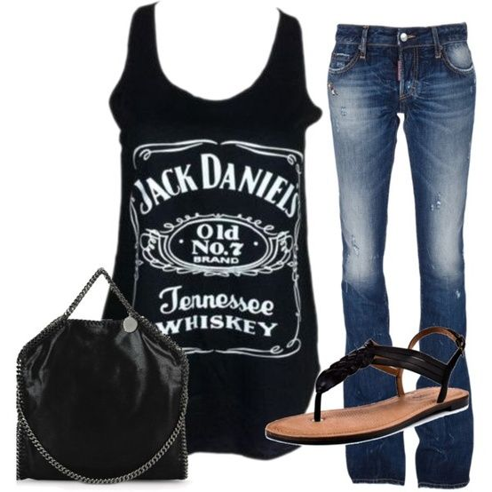 Black jack daniels tank, great for a country concert!  Jenn ~ for KC!!!