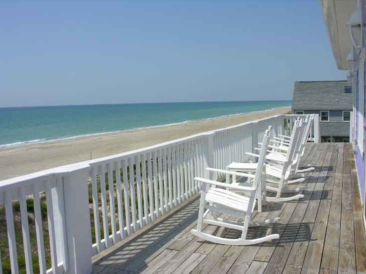oceanfront upper deck at Playtime vacation rental in emerald isle, nc