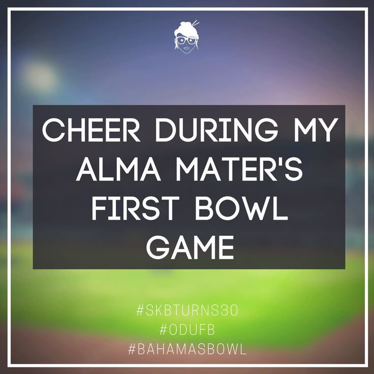 It was Old Dominion University's first EVER bowl game, and I was so excited to watch the Monarchs win - on ESPN!