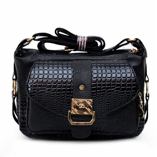 Women Crocodile Bags Ladies Elegant Leather Shoulder Bags Crossbody Bags Messeng - US$19.99