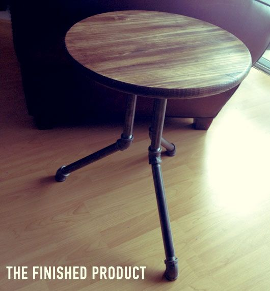 The Intentional Apartment: Make an Industrial Side Table
