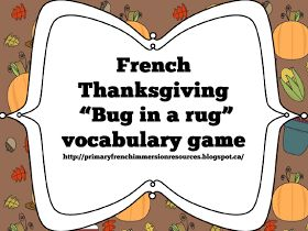 Primary French Immersion Resources: L'action de grâces