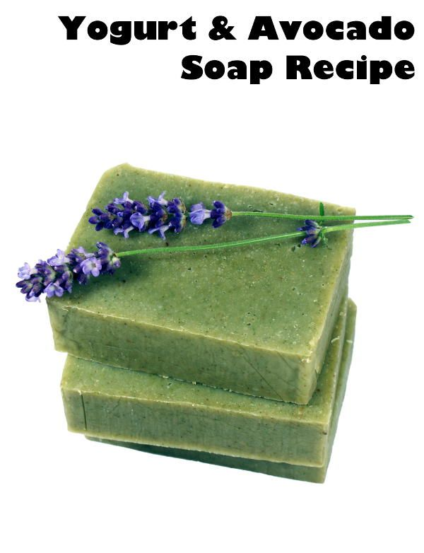 This natural yogurt and avocado homemade soap recipe is made using a ripe avocado and real Greek yogurt to help give soap an extra luxurious feeling!