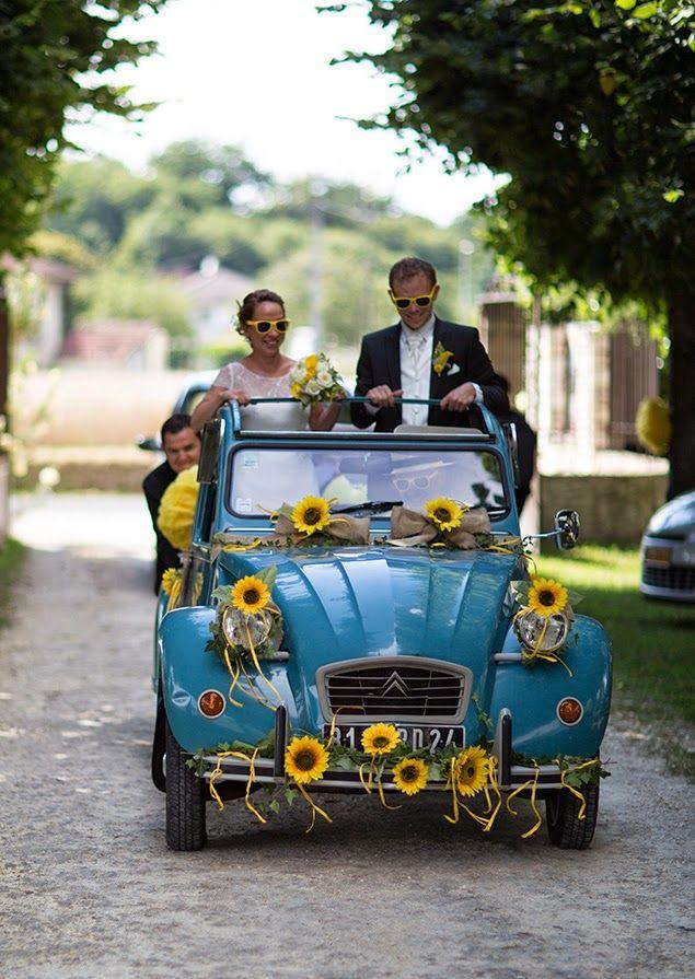 Des tournesols en folie ! Vrai mariage en Dordogne sur Trendy Wedding