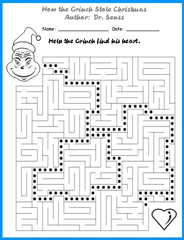 Worksheet. 213 best How the Grinch Stole Christmas images on Pinterest  The