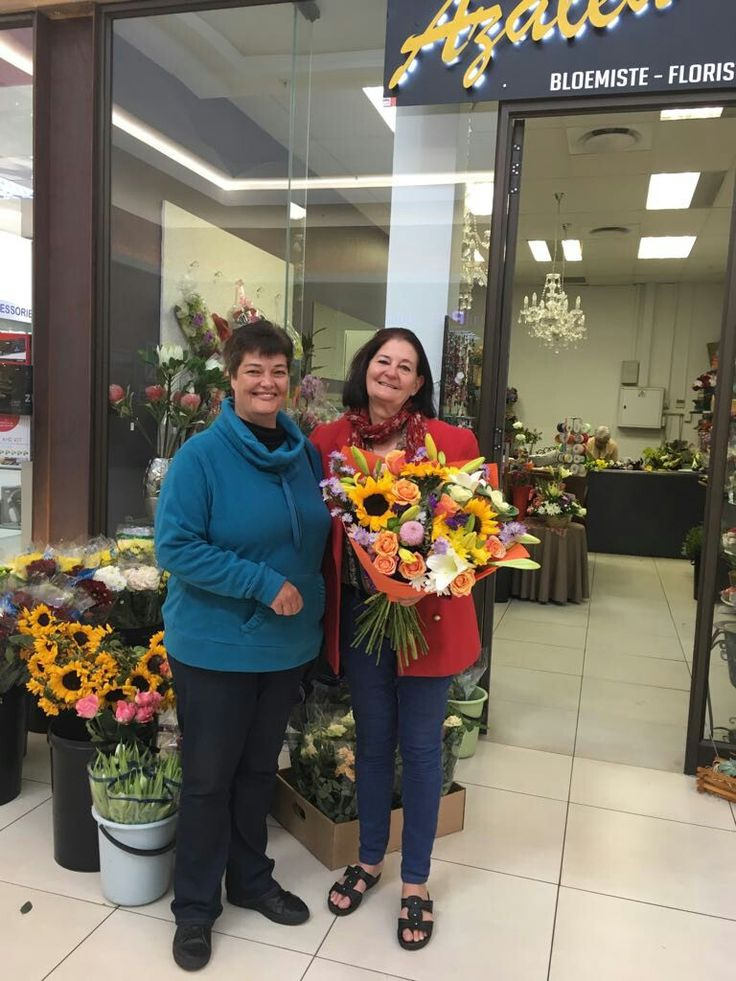 Congratulations Adri Botha for winning the Azalea Florist - Mother's Day Competition 2017.  We are very delighted for you and your mother.  From all of us at Azalea Florist.