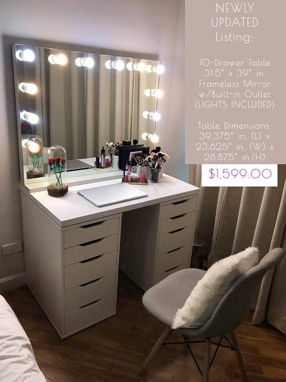 Custom 31 5 X 39 In Hollywood Glamour Vanity Lighted Mirror