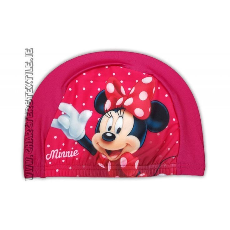 Lightweight easy stretch Spandex fabric which is quick drying and machine washable Girls Disney Minnie swimming hat fuchsia.These hatare not waterproof but are perfect for use in pools for fun / hygiene or to keep the hair back and in place.Suggested age from 2-10 years one size fits