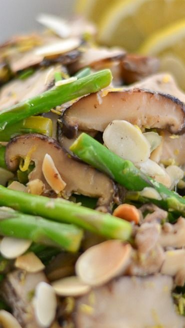 Sauteed Chicken With Asparagus And Mushrooms Recipe — Dishmaps