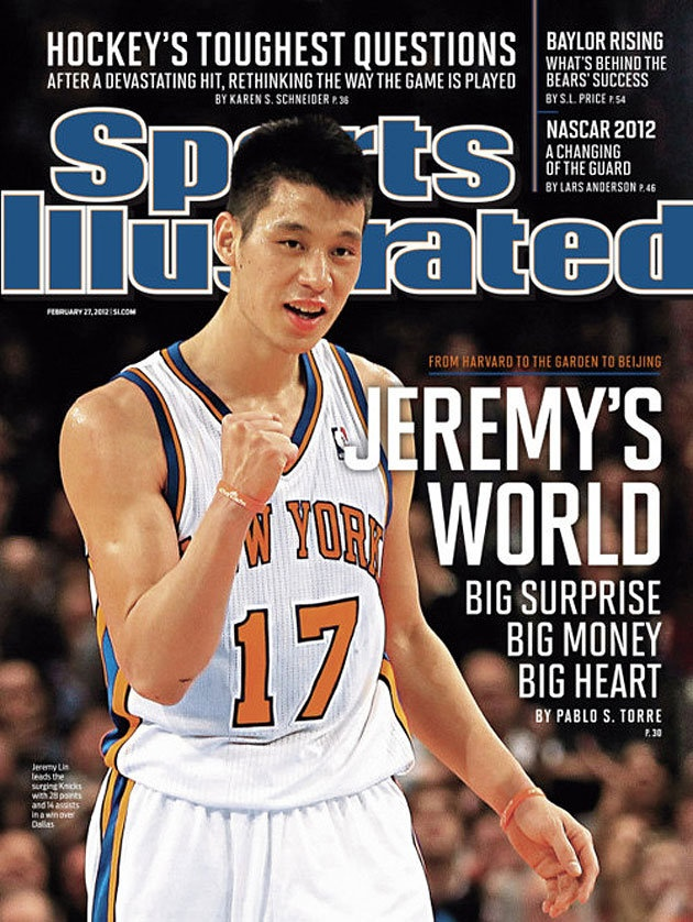 Jeremy Lin on the Sports Illustrated cover, February 27, 2012 - for a 2nd time