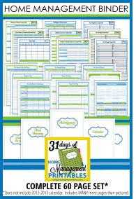 31 Days of Home Management Binder Printables: Day #7 Monthly Budget | Organizing Homelife
