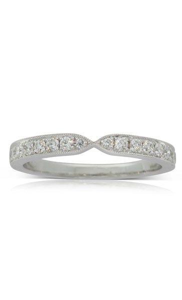 18ct white gold .32ct diamond set band