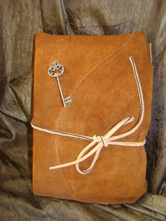 Leather Covered Quotes Journal  Vintage Key  by BuddhaWoodha, $28.50