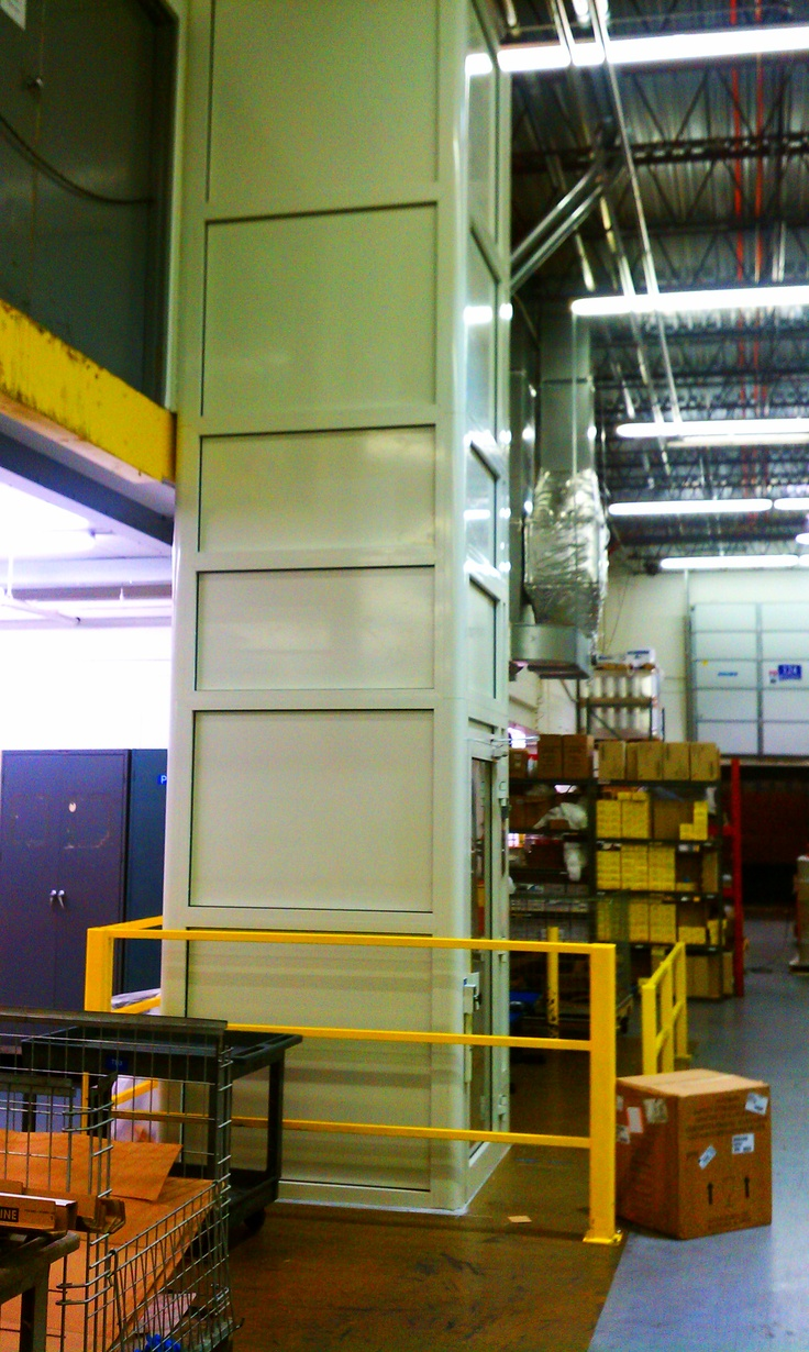 Factory made accessible with a vertical wheelchair lift