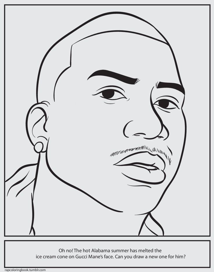 Bun B's Jumbo Coloring And Rap Activity Tumblr | Clickhereto download the Gucci Mane activity...