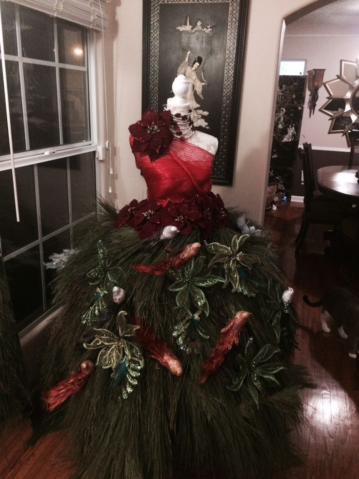 67 best DIY Dress Form Christmas Trees images on Pinterest  Dress