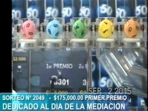 Resultados Loteria Nacional de El Salvador miercoles 2-9-2015