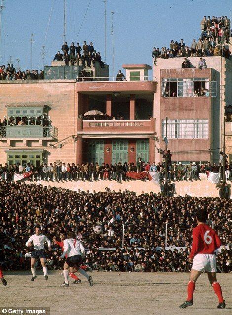 England play Malta, in Valetta 1971