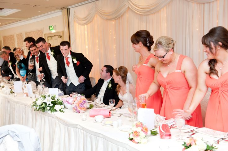 Lots of fun at the top table of Julie & James Gallagher's wedding