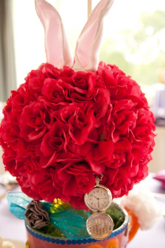 """Alice in Wonderland """"Rabbit"""" Tea Party Birthday Party/Shower Centerpiece Decoration"""