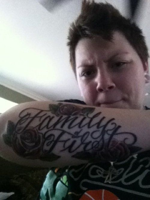 Family first forearm tattoo idea 4 my man tattoo 39 s for Family first tattoo designs