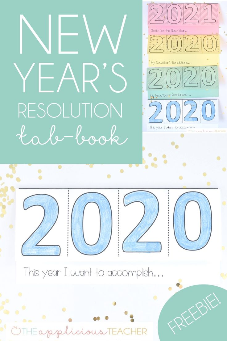 New Year's Resolution Tab Book FREEBIE New years