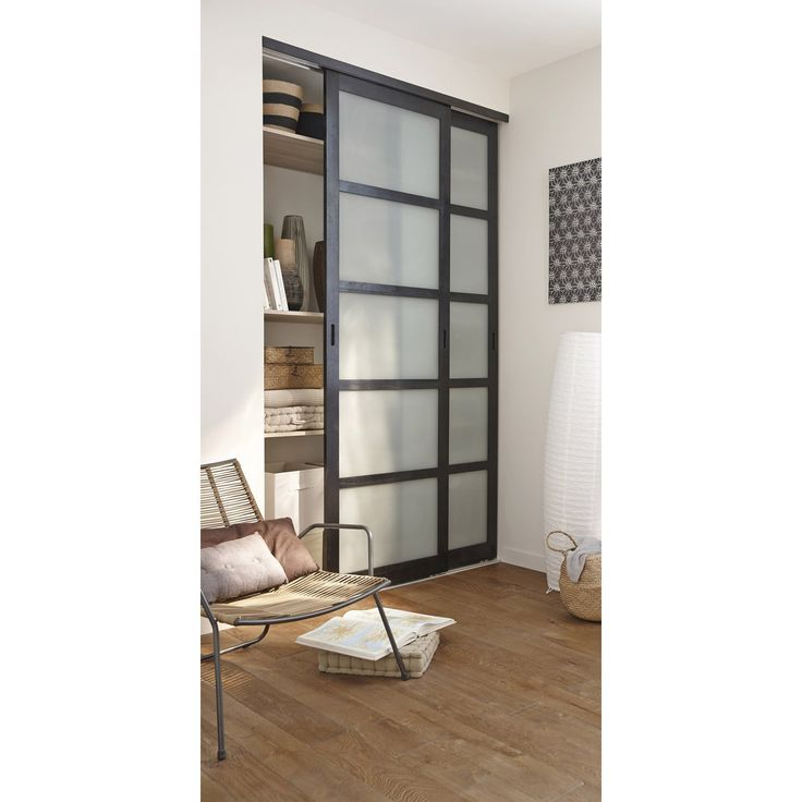 Lot de 2 portes de placard coulissantes weng 250x153cm for Porte en verre leroy merlin