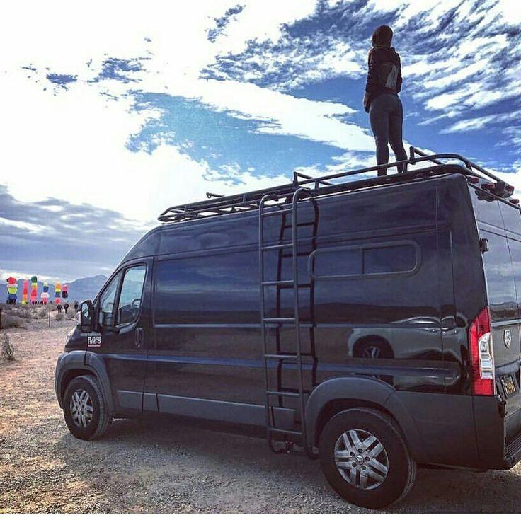 Dodge ProMaster Van With Aluminess Roof Rack And Ladder. | Dodge Promaster  With Aluminess Products | Pinterest | Roof Rack, Vans And Van Life