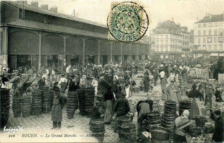 cartes postales anciennes hôpitaux rouen   Rouen - Place du Vieux Marché : Rouen   Cartes Postales Anciennes sur ...