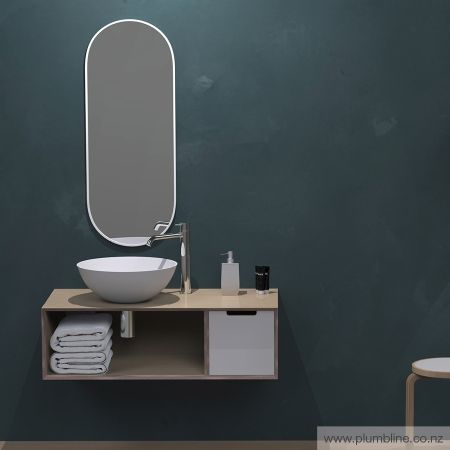 Ply25 750 Small Drawer Vanity Right - Bathroom Furniture - Bathroom