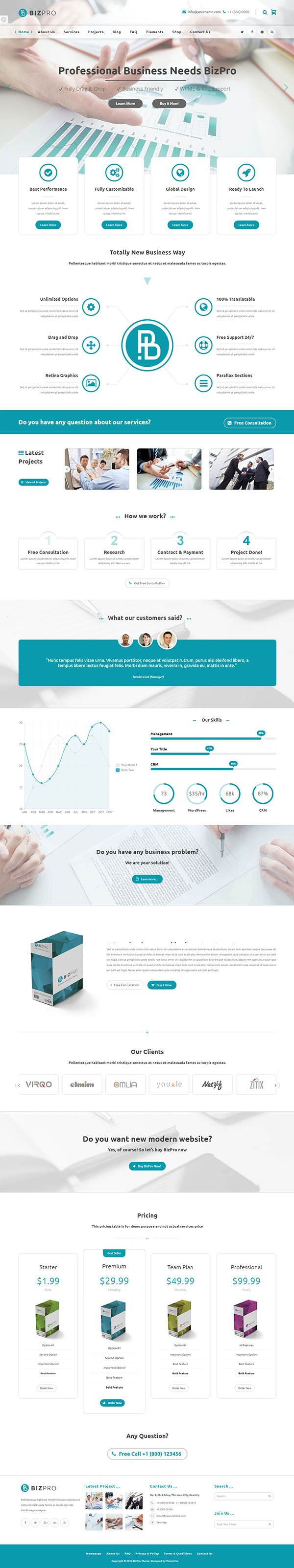 BizPro - Business Theme + RTL