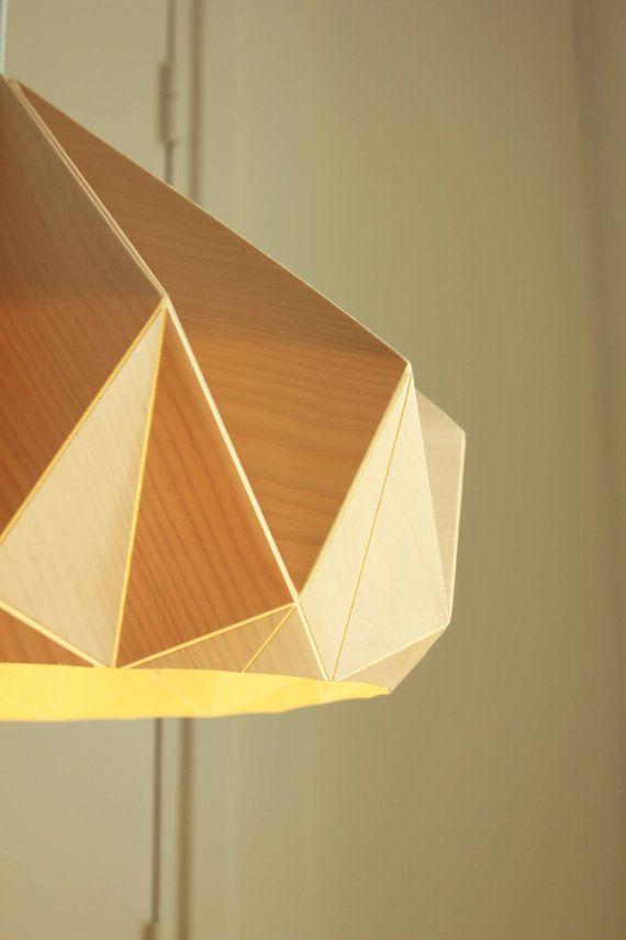 NEW: Chestnut lamp from birch wood veneer