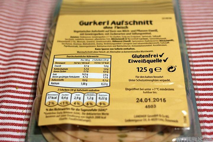 Vegetarische Lyoner Gurkerl Aufschnitt ALDI Produkttest Hyyperlic