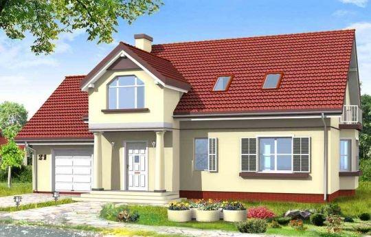 Projekt Zgrabny 4 to wersja domu jednorodzinnego dla rodziny cztero-pięcioosobowej. Powstał jako urozmaicony projekt domu Zgrabny. Ciekawy portyk wejściowy na kolumnach, z dużym oknem nad wejściem. Reprezentacyjna architektura i funkcjonalne wnętrze. Garaż poszerzony z dodatkową przestrzenią. Na parterze mieszkania oprócz salonu zaprojektowano dodatkowy pokój i łazienkę. Na poddaszu mieszczą się cztery sypialnie i duża łazienka.