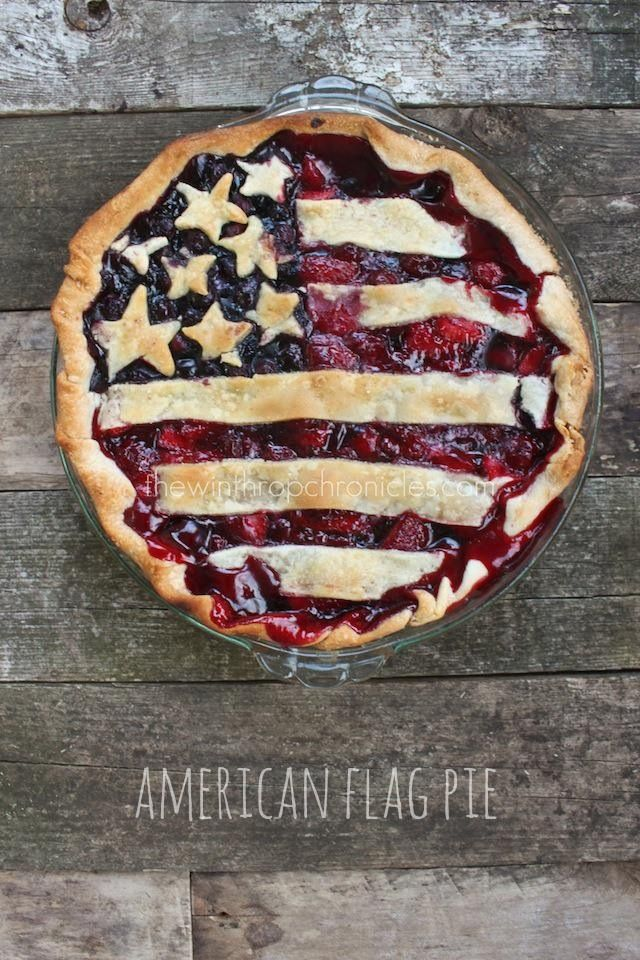 American flag pie for the 4th of July!