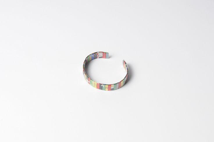 Soda can-strips bracelet (width: 1.3cm)