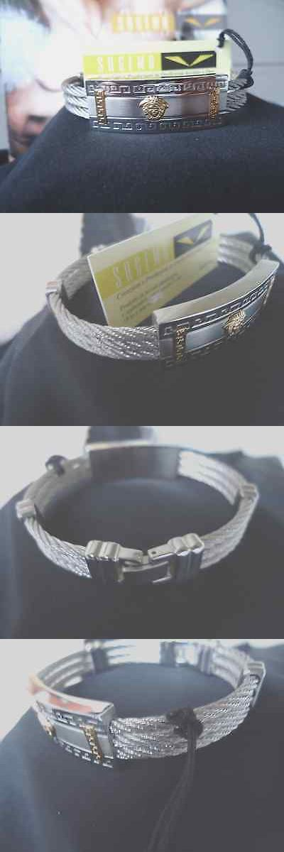 Bracelets 137835: Stainless Steel Mens Bracelet With Gold Medusa Head Made In Italy -> BUY IT NOW ONLY: $40.95 on eBay!