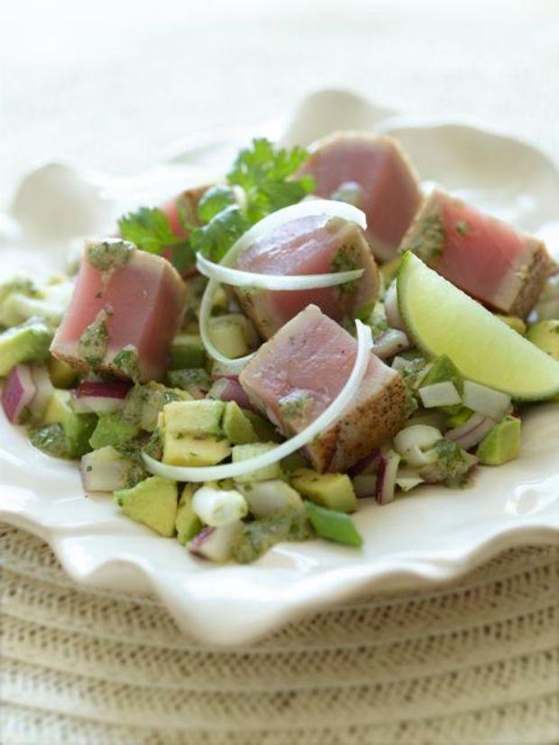 This avocado and seared tuna steak salad recipe rivals any restaurant version.