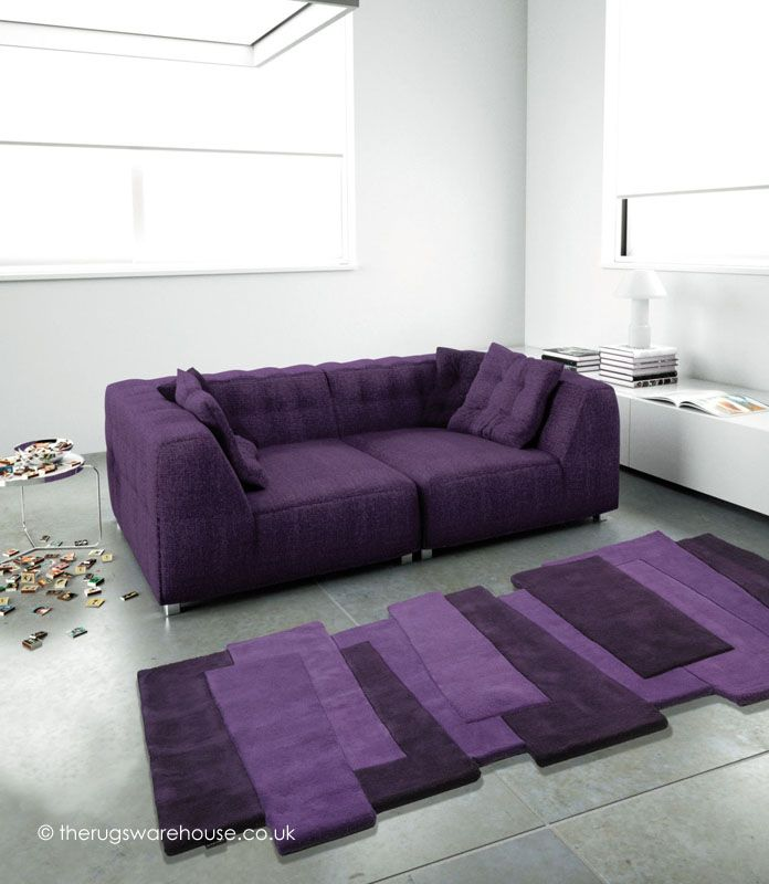 Purple steps runner a modern unusually shaped luxury for Contemporary runner rugs for hallway