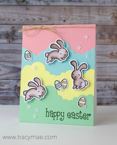 Tracy Mae Design: Lawn Fawn Easter Card + Watercolor Pencils