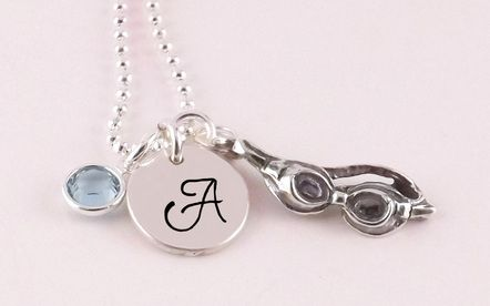 Swim Initial Necklace