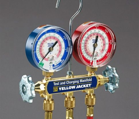 Cadran de chargement de thermopompe avec boyau - Yellow Jacket